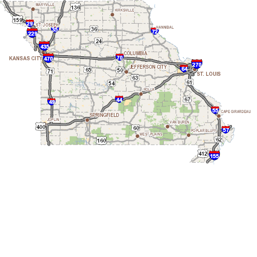Modot Traveler Information Map