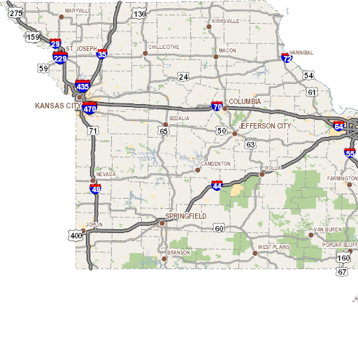 Map Of Roads Closed By Flooding In Missouri FOXnowcom - Us 50 closure map